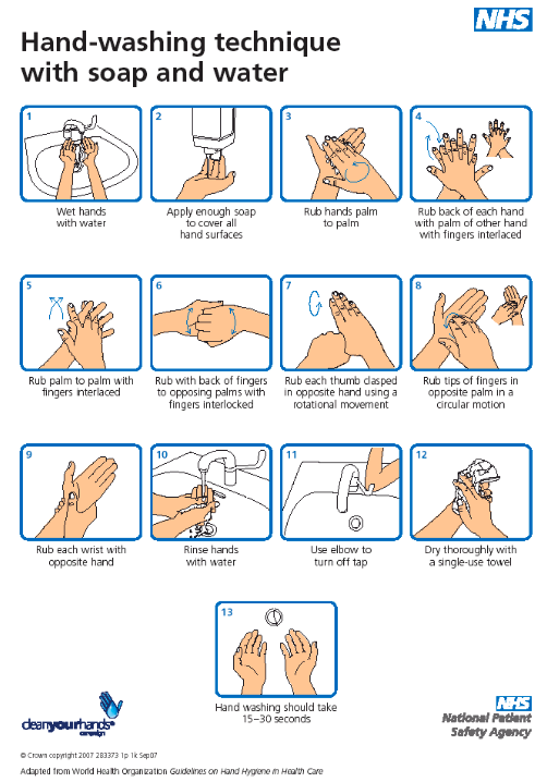 NHS Handwashing guidance